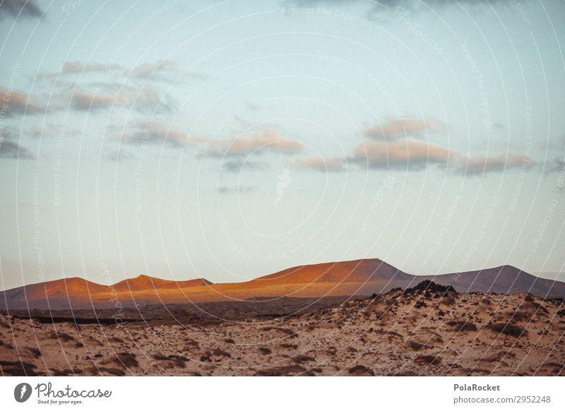 #A# golden land Kunst ästhetisch Landschaft Landschaftsformen Landschaftgemälde Fuerteventura Berge u. Gebirge Farbfoto Gedeckte Farben Außenaufnahme