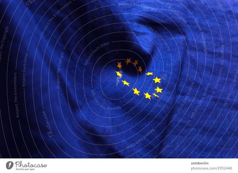 Europafahne again Baumwolle blau brexit Design euro Fahne Falte gelb Stoff gold Kreis Stern (Symbol) Symbole & Metaphern Textilien Wahrzeichen