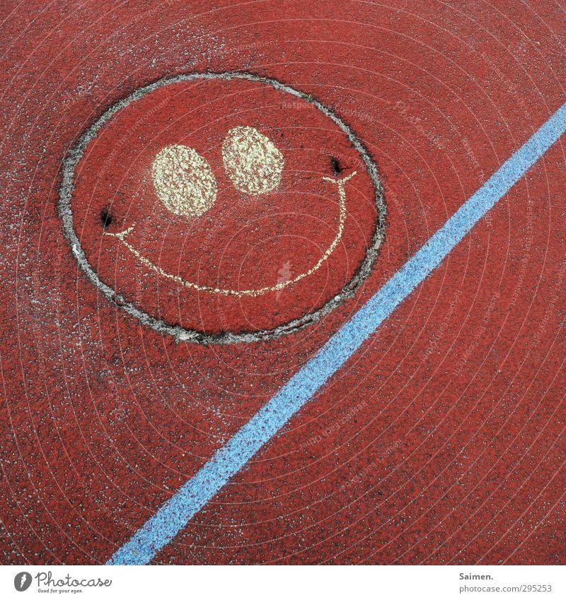 lache bis du rot wirst Platz Freude Lebensfreude Optimismus skurril lachen lustig mehrfarbig Farbenspiel Linie Strukturen & Formen Lächeln Smiley grinsen