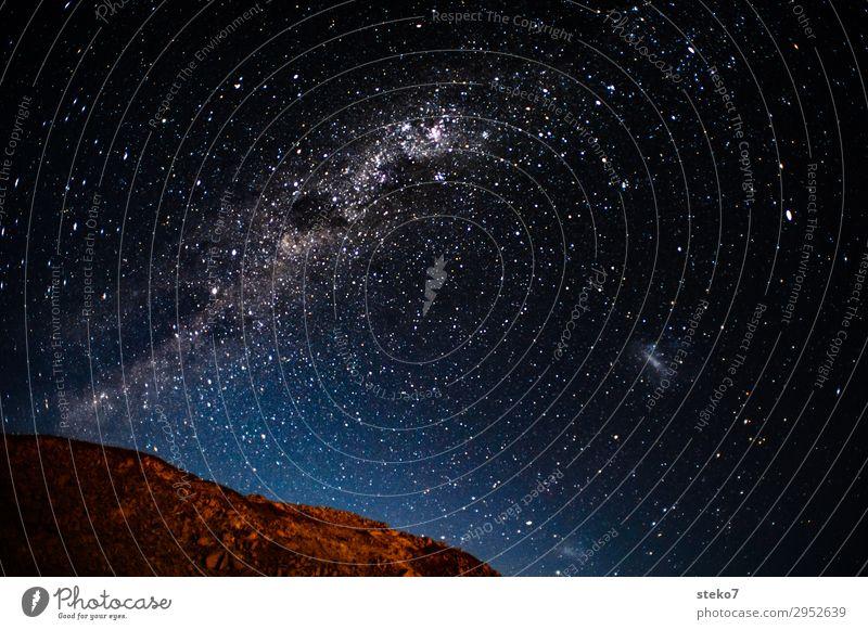 Wüstennacht Ferne Berge u. Gebirge außergewöhnlich träumen Stern Weltall Unendlichkeit Nachthimmel Sternenhimmel Namibia Milchstrasse