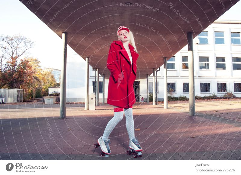 #248648 Mensch Frau schön rot Erholung Erwachsene Sport Gebäude Stil Schule Mode blond Freizeit & Hobby stehen Lifestyle frisch