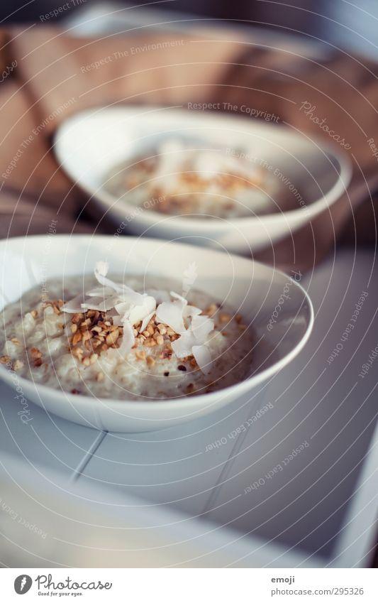 Milchreis mit Kokosflocken weiß Ernährung lecker Frühstück Bioprodukte Schalen & Schüsseln Dessert Vegetarische Ernährung Reis Milcherzeugnisse Milchreis