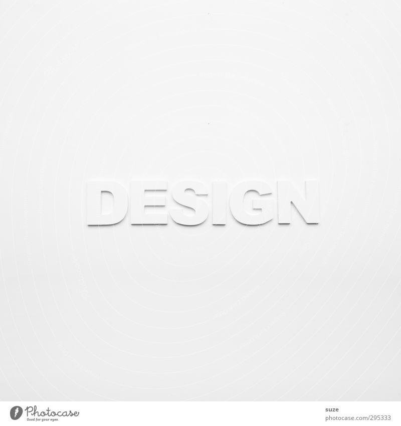 White Label weiß Stil hell Lifestyle Freizeit & Hobby Design Schriftzeichen ästhetisch Kreativität einfach Idee Sauberkeit Grafik u. Illustration Buchstaben