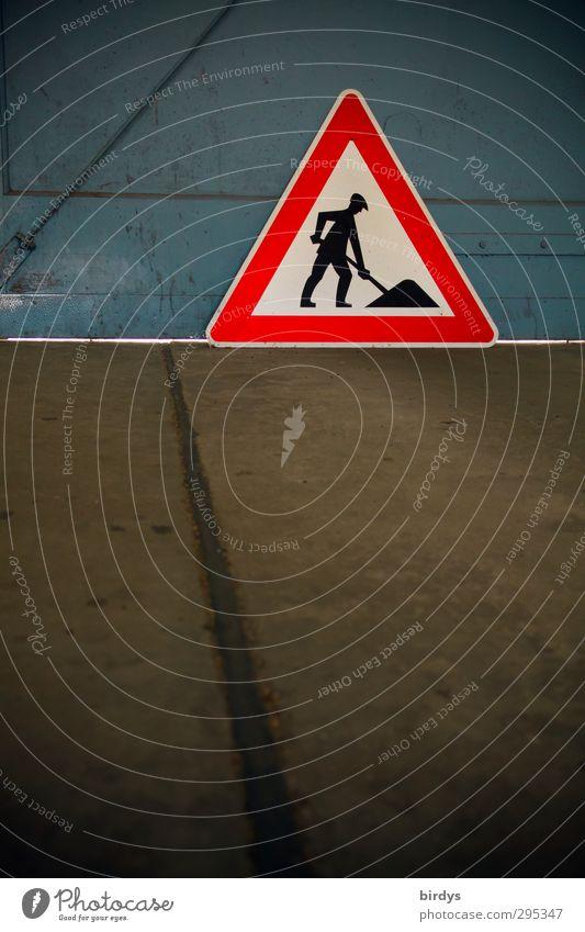 Hauptstadtflughafen Berlin Baustelle Tor Verkehr Verkehrszeichen Verkehrsschild Schilder & Markierungen Hinweisschild Warnschild leuchten ästhetisch Schwerpunkt