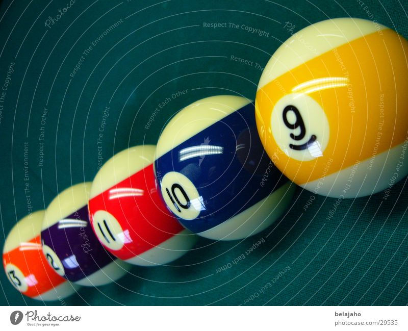 Billardkugeln Sport Ziffern & Zahlen Kugel Hälfte Snooker