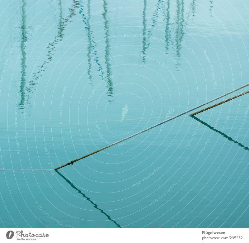 Schattenreich Wellen Küste Seeufer Flussufer Nordsee Ostsee Meer Teich Bach Wasser Schwimmen & Baden parallel Seil Mast Wasserfahrzeug Hafen Jachthafen