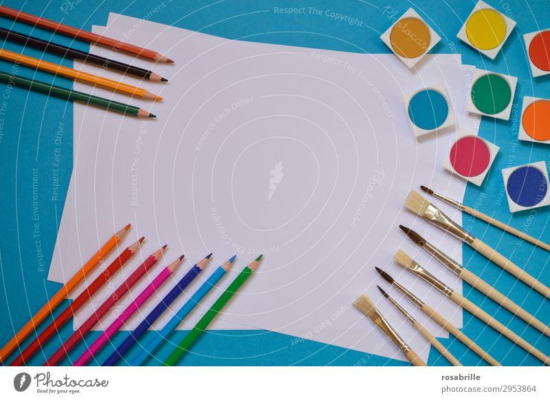 Farbrahmen weiß Kunst Freizeit & Hobby Ordnung ästhetisch Fröhlichkeit Kreativität Lebensfreude leer Papier malerisch malen Erwachsenenbildung Bildung Gemälde