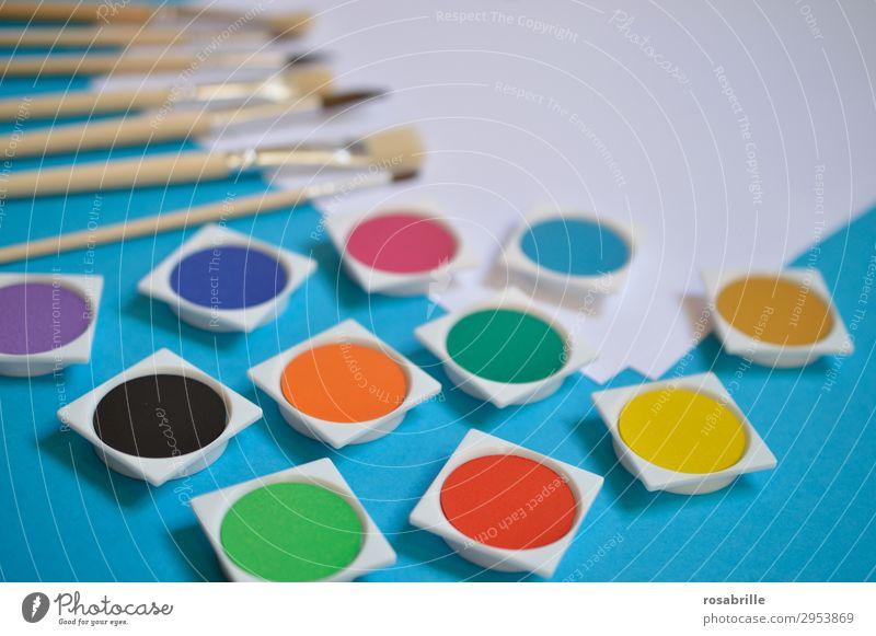 alle meine Farben Freizeit & Hobby Bildung Erwachsenenbildung Arbeitsplatz Feierabend Kunst Künstler Maler Gemälde Schreibwaren Papier zeichnen streichen