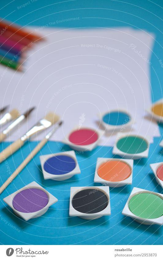 alle meine Farben weiß Kunst Freizeit & Hobby Ordnung ästhetisch Fröhlichkeit Kreativität Lebensfreude leer Papier malerisch malen Erwachsenenbildung Bildung