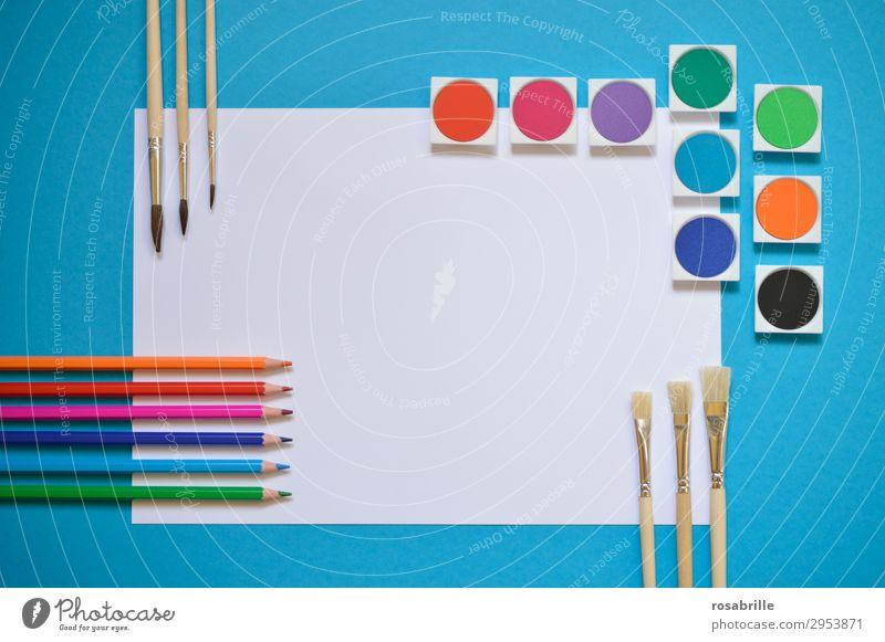 farbenfrohe Ordnungsliebe Freizeit & Hobby Bildung Erwachsenenbildung Arbeitsplatz Feierabend Kunst Künstler Maler Gemälde Schreibwaren Papier Schreibstift