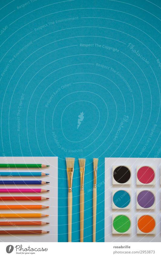 Farbenspass weiß Kunst Freizeit & Hobby Ordnung ästhetisch Fröhlichkeit Kreativität Lebensfreude Papier malerisch malen Erwachsenenbildung Bildung Gemälde