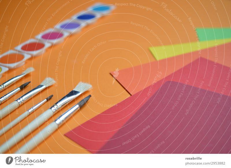 wen die Muse küsst ... | der greift zur Farbe und legt los Kreativität Wasserfarbe Wasserfarben Farben bunt malen basteln kreativ Künstler Spaß Freude leuchtend