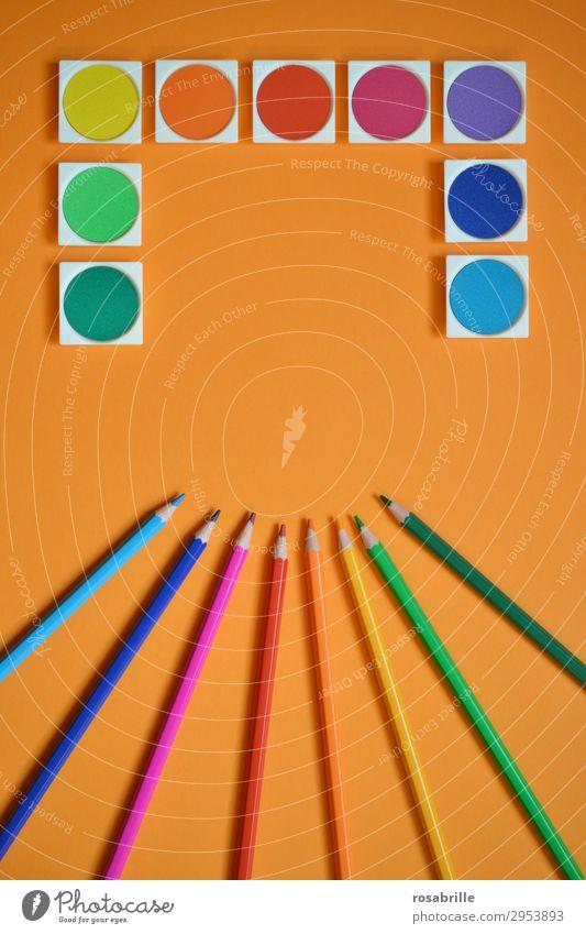Spiel mit Farben | Symmetrie Wasserfarbe Buntstifte bunt malen Kunst Freizeit & Hobby Wasserfarben Farbstift Malutensilien Gemälde Arbeitsplatz Feierabend