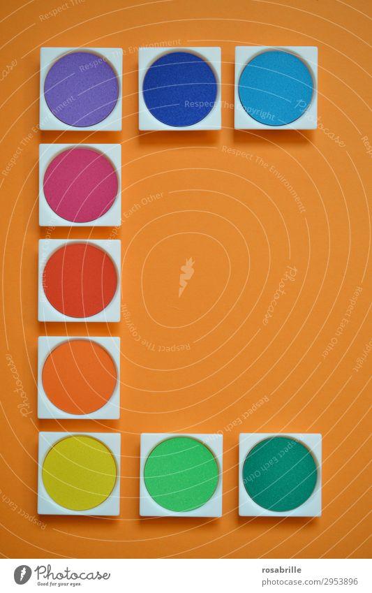 Wasserfarben | Symmetrie Farben bunt malen Kunst Freizeit & Hobby Malutensilien Gemälde Arbeitsplatz Feierabend Künstler Maler Schreibwaren Papier Schreibstift