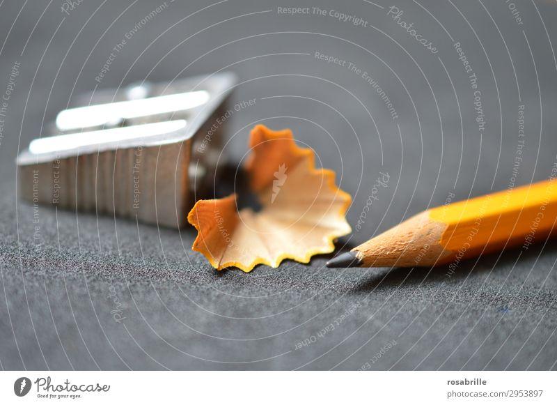 schreibbereit schwarz Holz gelb Kunst Schule orange grau Arbeit & Erwerbstätigkeit Büro Erfolg Kreativität lernen Spitze Erwachsenenbildung schreiben Bildung