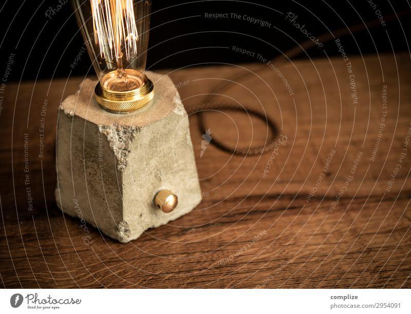 Design Betonlampe mit Dimmer und Edison Glühbirne Stil Freizeit & Hobby Häusliches Leben Wohnung Renovieren einrichten Innenarchitektur Dekoration & Verzierung