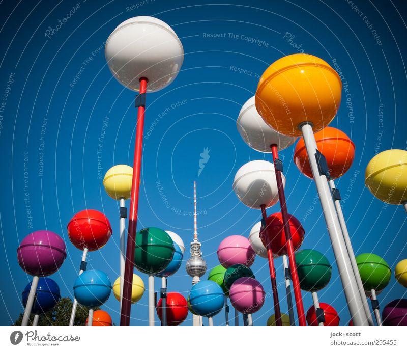 finde das Kuckucksei (DCC.) Farbe Sommer Wärme Zusammensein Design frisch Fröhlichkeit Schönes Wetter einzigartig rund viele Kunststoff Wolkenloser Himmel Kugel Hauptstadt Wahrzeichen