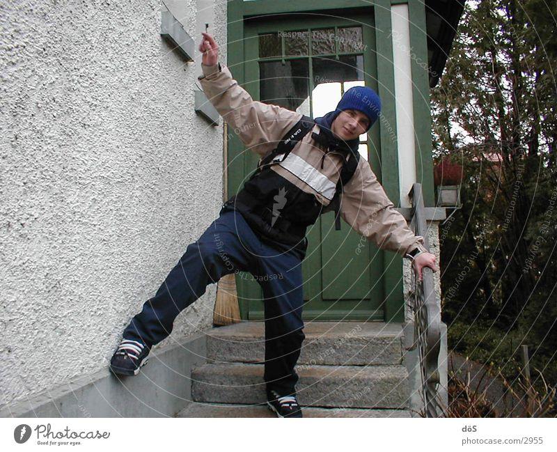 in action Mensch Stil Aktion Mütze Stunt