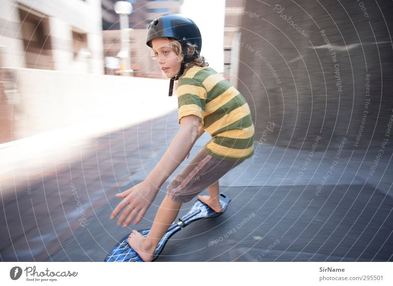 220 [high-speed inner city] Freizeit & Hobby Spielen Kinderspiel Sport Skateboard Skateboarding Trick Jump Jayboard Bürogebäude Junge Kindheit Leben 1 Mensch