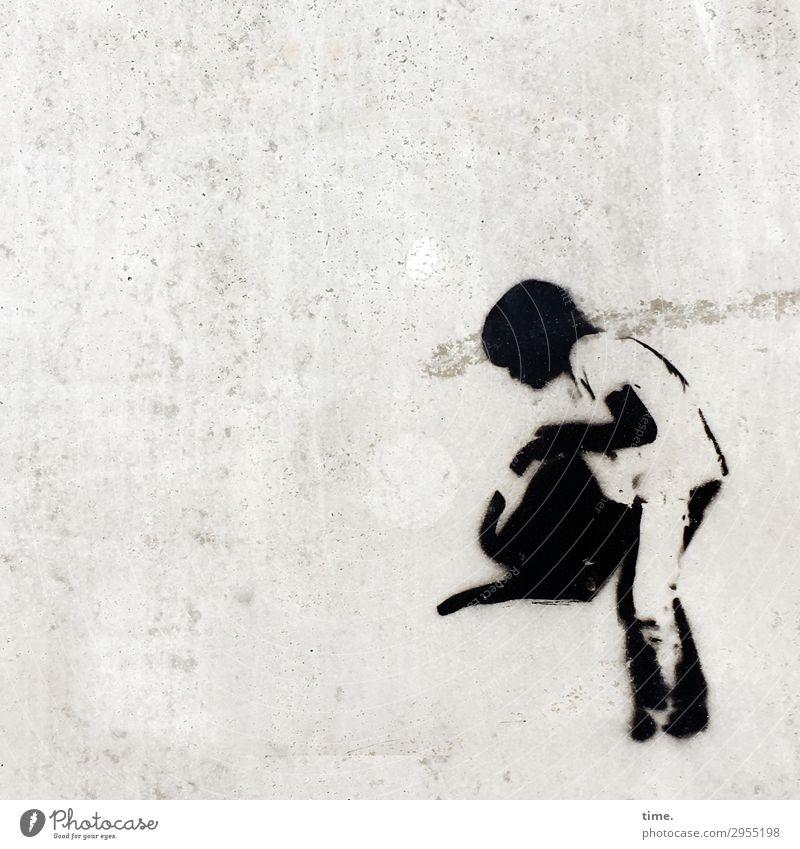 Pflegekraft Grafitti Gießkanne Mazer beton stein wand junge gießen