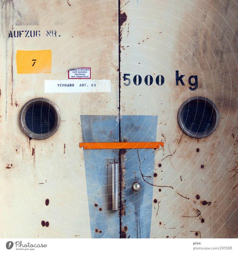 angstgegner | ut | köln alt Stadt ruhig Arbeit & Erwerbstätigkeit Tür dreckig Schilder & Markierungen Schriftzeichen Hinweisschild kaputt Sicherheit