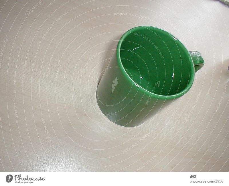 grüne.tasse Glas Dinge Tasse Becher