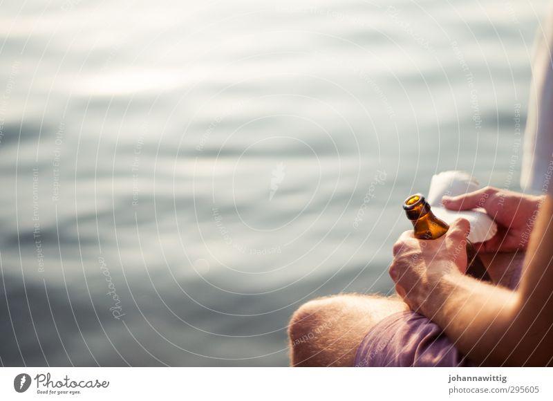 wir haben ewig zeit - Mensch Natur Jugendliche Sommer Junger Mann ruhig Freude 18-30 Jahre Erwachsene Leben Freiheit See Freundschaft träumen maskulin
