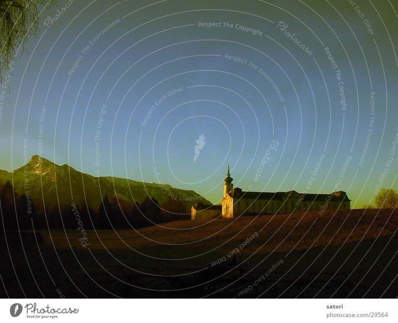 Vormeiner Tür Berge u. Gebirge Untersberg Salzburg Landschaft winterlich Licht Dämmerung