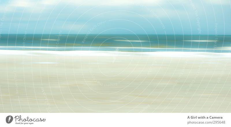 nur noch so Umwelt Natur Landschaft Himmel Horizont Frühling Sommer Schönes Wetter Küste Ostsee außergewöhnlich frei schön blau grün Gedeckte Farben