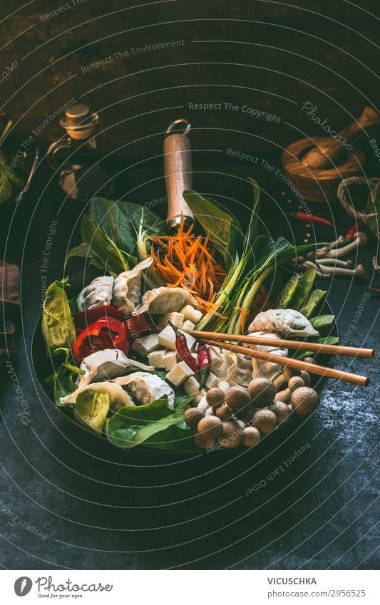 Geschmackvoller Asiatische Eintopf Lebensmittel Gemüse Suppe Ernährung Mittagessen Abendessen Bioprodukte Vegetarische Ernährung Diät Slowfood Asiatische Küche