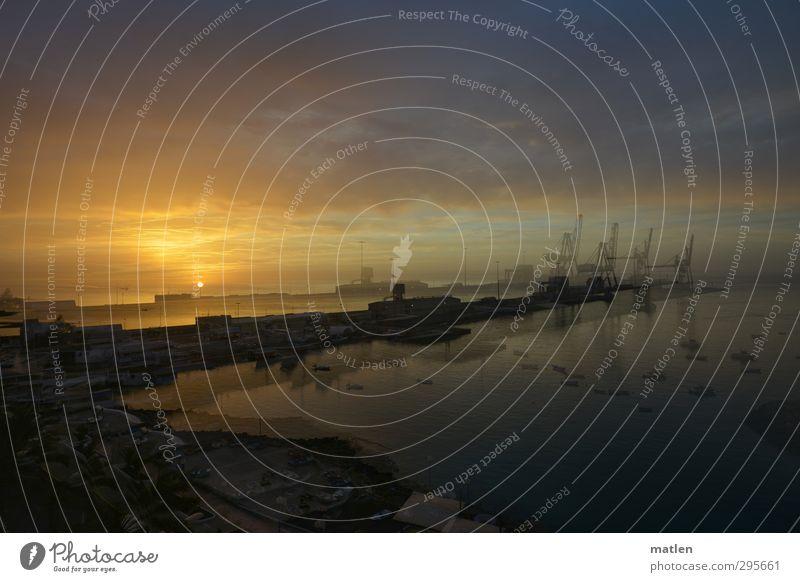 Puerto Umwelt Landschaft Himmel Wolken Nachthimmel Horizont Sonne Sonnenaufgang Sonnenuntergang Mond Frühling Klima Wetter Schönes Wetter Küste Meer Hafenstadt