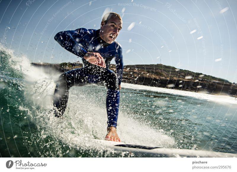 Olá verão! Sommer Meer Strand Sport außergewöhnlich Wellen Freizeit & Hobby Abenteuer Coolness sportlich Sommerurlaub Leidenschaft Surfen selbstbewußt Surfer