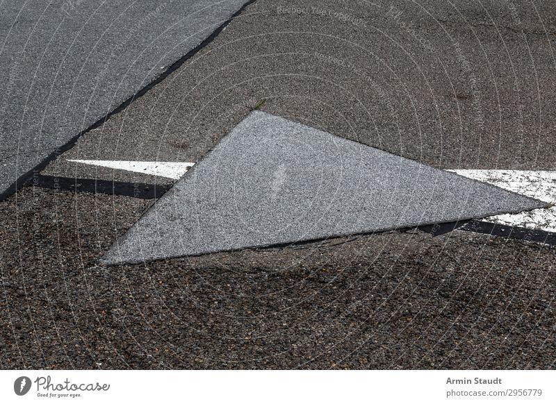 Dreieck Lifestyle Stil Design Stadt Verkehrswege Straße Autobahn Landebahn Zeichen Ornament Schilder & Markierungen Verkehrszeichen Linie Netzwerk ästhetisch
