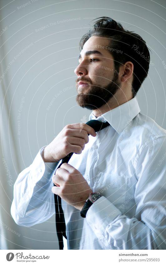 Krawatte Mensch Jugendliche 18-30 Jahre Erwachsene Stil Lifestyle Business Arbeit & Erwerbstätigkeit maskulin Büro elegant Erfolg lernen Studium kaufen Macht