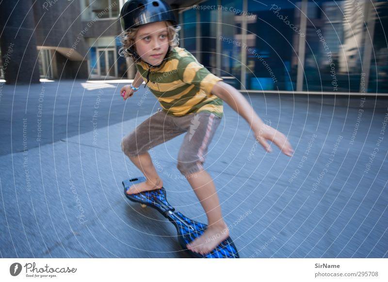 223 [skating through the inner city] Mensch Kind Stadt Freude Leben Sport Spielen Junge Wege & Pfade Architektur Gebäude Freizeit & Hobby Kindheit Hochhaus