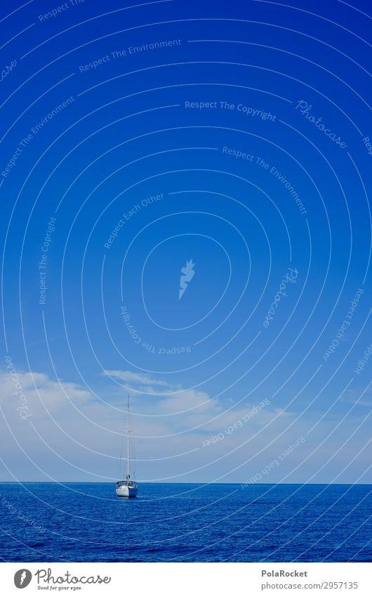 #S# Boot Schifffahrt Kreuzfahrt Glück Segel Segeln Segelboot Segelschiff Meer Horizont Windstille warten Segeltörn Freiheit Einsamkeit einzigartig