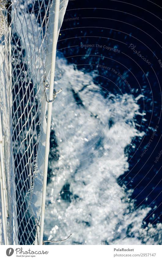 #S# Schiffsmomente Schifffahrt Kreuzfahrt Bootsfahrt ästhetisch Wasser Schiffsbug Wellen Netz Reling genießen Meer Segeln Segelschiff Segelurlaub Momentaufnahme