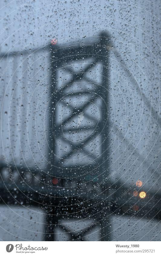 Benjamin Franklin Bridge Stadt Brücke Bauwerk Architektur Sehenswürdigkeit Wahrzeichen Kraft geheimnisvoll Farbfoto Gedeckte Farben Außenaufnahme Detailaufnahme