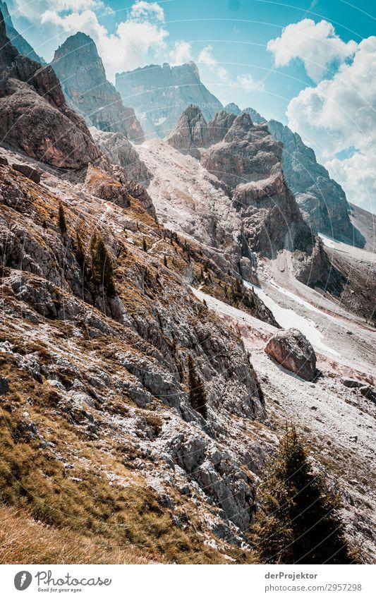 Sonne in den Dolomiten Ferien & Urlaub & Reisen Natur Sommer Pflanze Landschaft Ferne Berge u. Gebirge Umwelt Tourismus außergewöhnlich Freiheit Felsen Ausflug