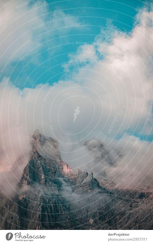 Dolomiten in den Wolken V Abenteuer wandern Schönes Wetter schlechtes Wetter Nebel Gipfel Sommer Landschaft Natur Umwelt Ferne Freiheit Berge u. Gebirge