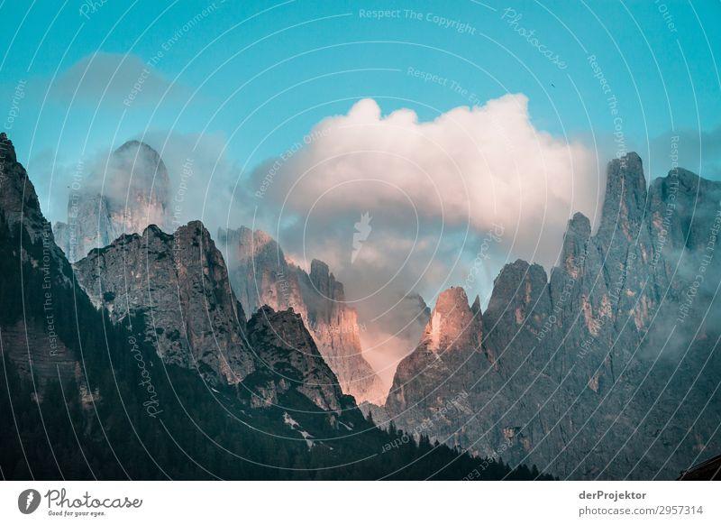 Sonnenuntergang in den Dolomiten Ferien & Urlaub & Reisen Tourismus Abenteuer Ferne Freiheit Sommerurlaub Berge u. Gebirge wandern Umwelt Natur Landschaft