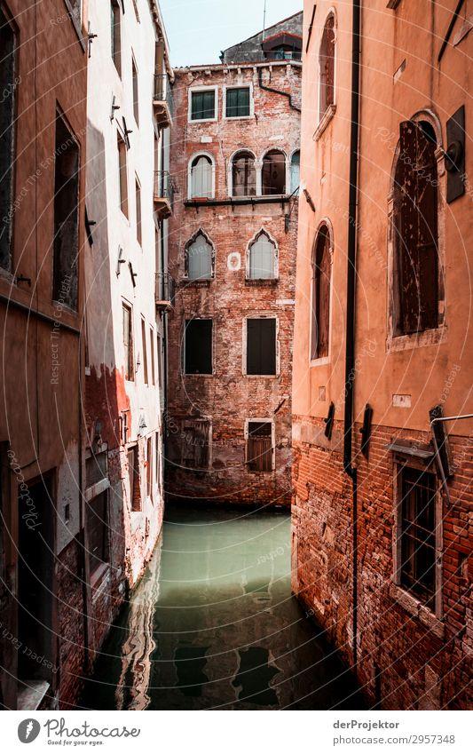 Venedigs Nebengassen Ferien & Urlaub & Reisen Tourismus Ausflug Abenteuer Freiheit Sightseeing Städtereise Kreuzfahrt Haus Bauwerk Gebäude Architektur