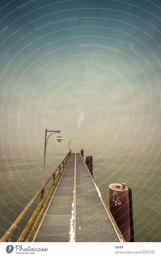 Letzten Endes Himmel Natur Ferien & Urlaub & Reisen Wasser Meer Einsamkeit Umwelt kalt Wege & Pfade Küste Horizont Luft Stimmung außergewöhnlich Wetter Klima