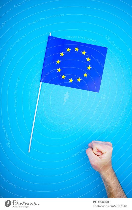 #S# STARKES Europa Wissenschaften ästhetisch Europäer Europafahne Europa Parlament Faust stark blau Zukunft Fahne Stern Sternenhaufen Wahlen Politik & Staat