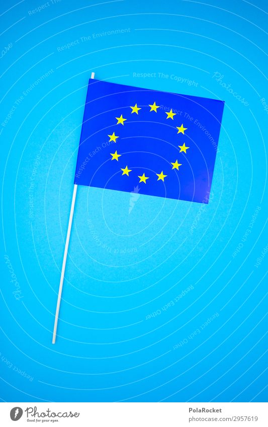 #S# EUflag Kunst ästhetisch Europa Europäer Eurozeichen Europafahne Fahne blau Stern Sternenhaufen Kreis Politik & Staat Wahlen Europa Parlament Freiheit