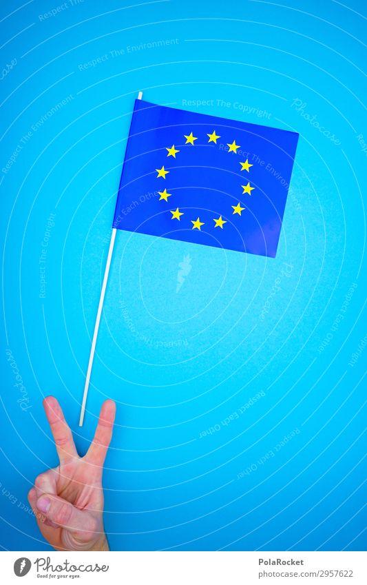 #S# Peace Europa lernen ästhetisch Europäer Europacenter Europa Parlament Europafahne Stern (Symbol) Wahlen Frieden Finger blau Europatag Wahlkampf