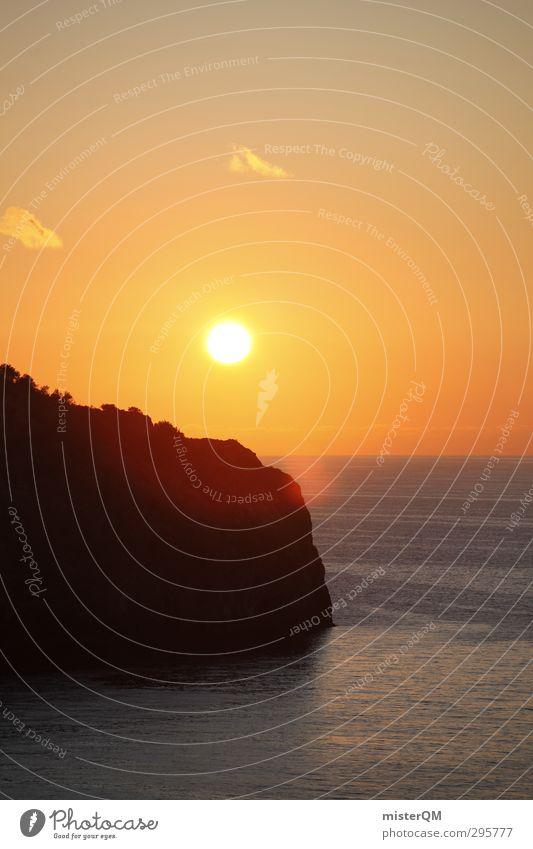 when sun sets. Kunst ästhetisch Zufriedenheit Wellness friedlich Sonnenuntergang Meer Ferien & Urlaub & Reisen Urlaubsfoto Urlaubsort Urlaubsstimmung