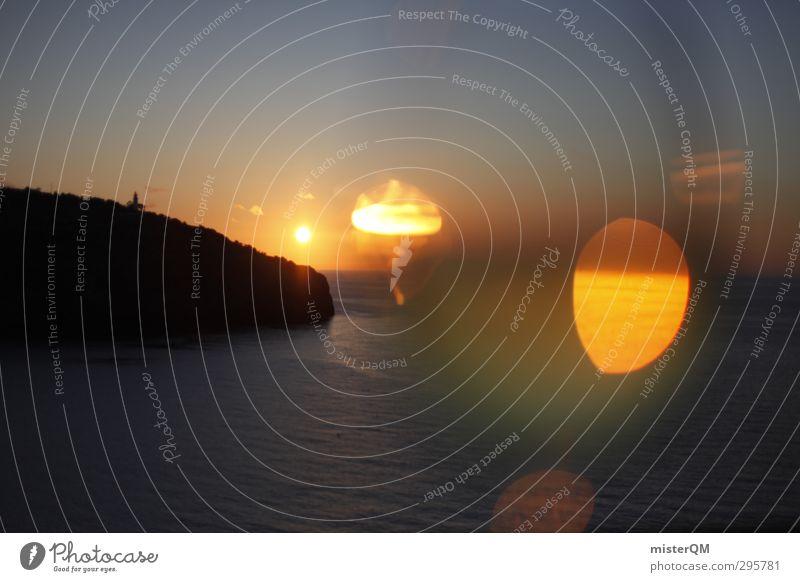cheers horizon! Ferien & Urlaub & Reisen Himmel (Jenseits) blau Wasser Sonne Meer Erholung Einsamkeit Ferne Kunst Zufriedenheit ästhetisch Insel Romantik