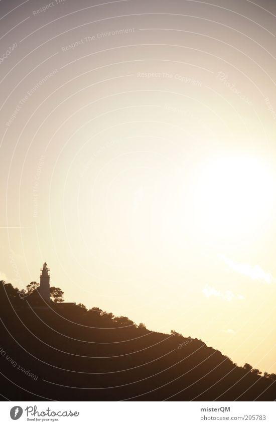 Sonnenturm. Sommer Sonne Einsamkeit Ferne Berge u. Gebirge Kunst Zufriedenheit Insel Idylle Zukunft ästhetisch Turm Romantik Sonnenbad Sommerurlaub Sonnenenergie