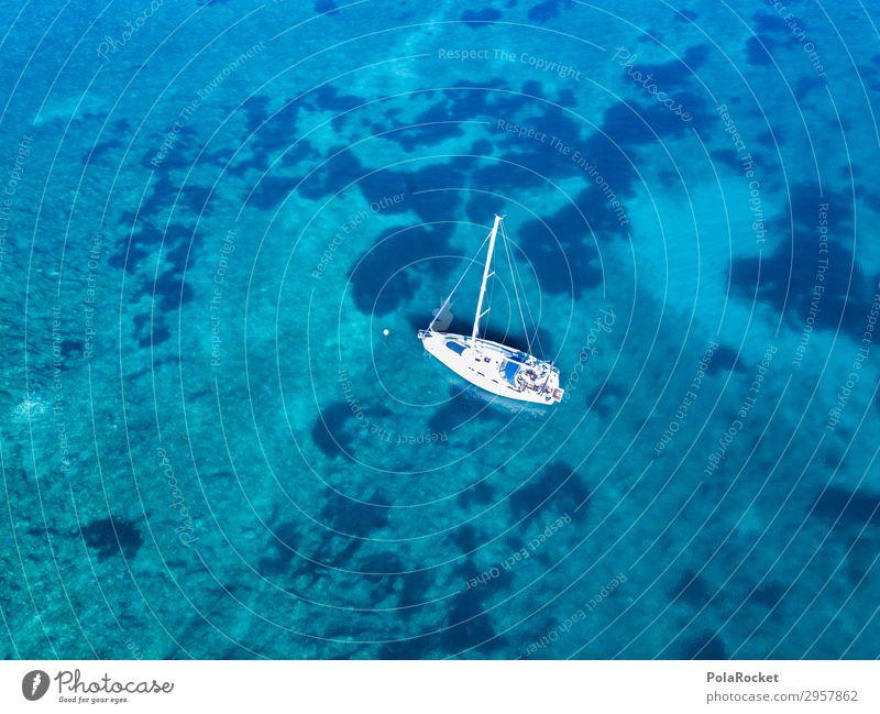 #S# Boot küsst Meer Natur Landschaft hoch Meeresboden Segeln Segelboot Segelschiff Segeltörn Segelurlaub ankern einzigartig Einsamkeit Wasser Wasserfahrzeug
